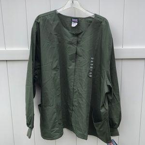 Scrubs Cherokee Workwear Jacket 4XL Olive Green